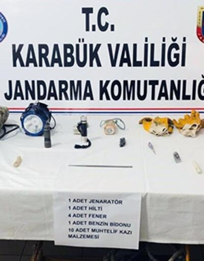 Karabük'te kaçak kazı operasyonu