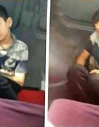 Minibüste yere oturtulan Suriyeli çocuk konuştu
