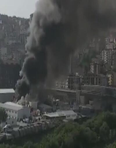 İstanbul'da metro inşaatında yangın