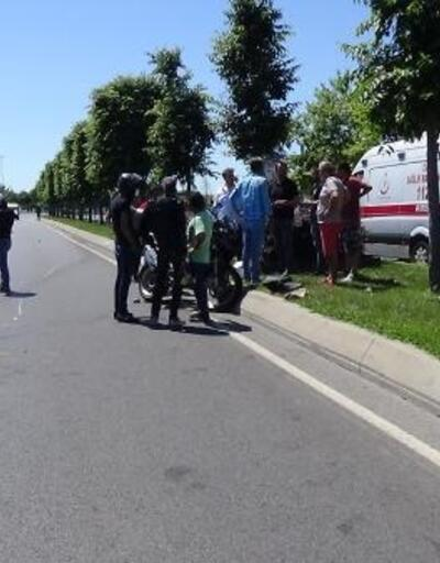 Metrelerce sürüklenen motosiklet sürücüsünü ekipmanı kurtardı