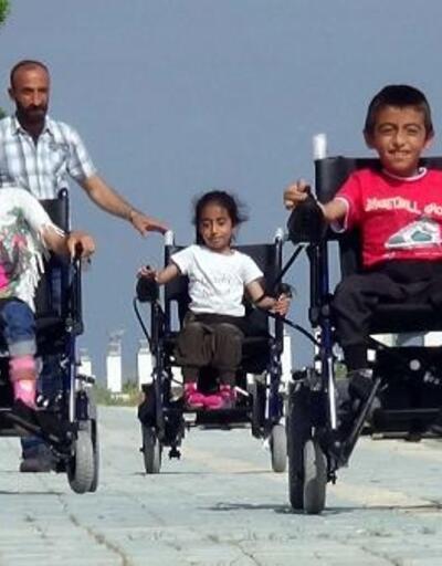 Yürüyemeyen 3 kardeşin hayali gerçek oldu