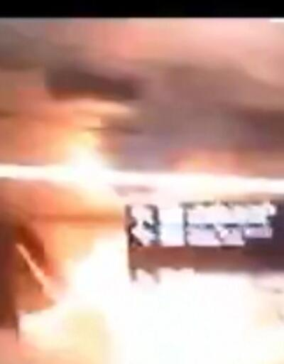 Suudi Arabistan'daki saldırı anı kamerada