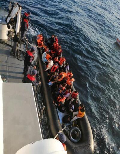 Edirne, lastik botta 37 kaçak yakalandı