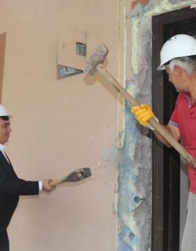 Hacılar'da 2'nci etap konutlar için kentsel dönüşüm çalışması
