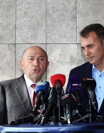 TFF Başkanı Nihat Özdemir ve Kulüpler Birliği Vakfı Başkanı Fikret Orman'dan açıklamalar
