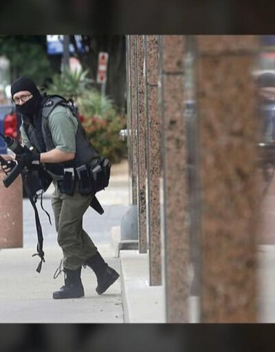 Silahlı saldırgan polisle çatıştı