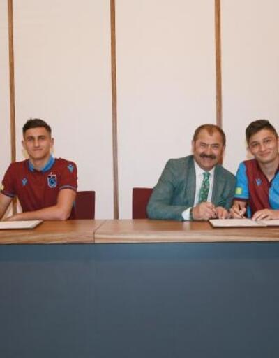 Trabzonspor'da Atakan ve Salih imzaladı