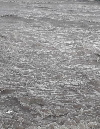 Elazığ'da yollar göle döndü, ağaçlar devrildi