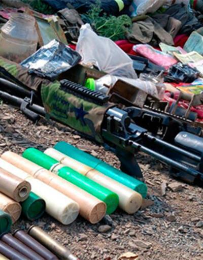 Pençe Harekatı'nda PKK'ya ait silah ve yaşam malzemesi ele geçirildi