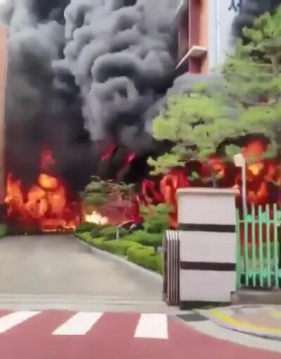 Güney Kore'de ilkokulda korkutan yangın