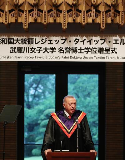 Cumhurbaşkanı Erdoğan'a Japonya'da 'Fahri Doktora' ünvanı