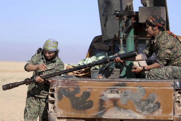 YPG'li savaşçılar Resulayn'da böyle görüntülendi