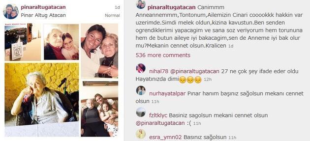 Pınar Altuğ'un acı günü