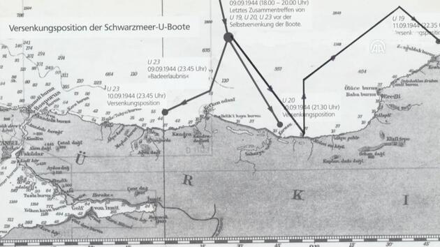Belgesel çalışmasında Alman denizaltısı U23 bulundu