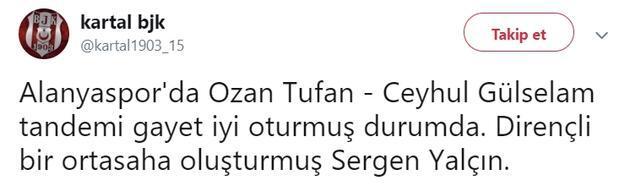 Ozan Tufan'ın performansı ses getirdi