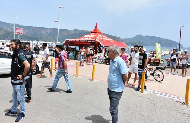 Su sporları istasyonunda 'tahliye' arbedesi