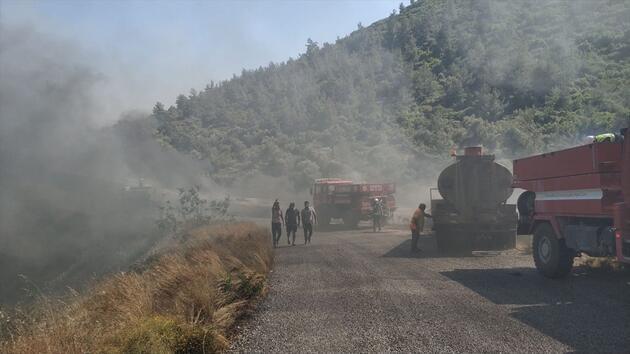 Muğla'da termik santralde yangın