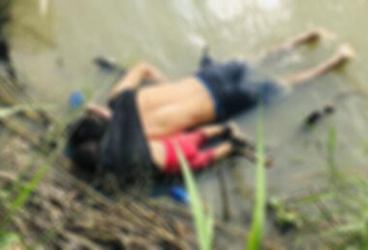 Meksika-ABD sınırında mülteci kız ve babası boğuldu
