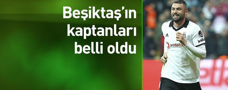 Beşiktaş'ın kaptanları belli oldu