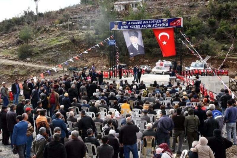 Şehit Yüksel Alçın'ın ismini taşıyan köprü açıldı
