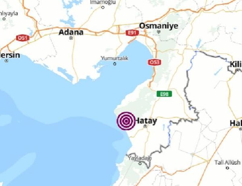 Hatay'da 4 büyüklüğünde deprem