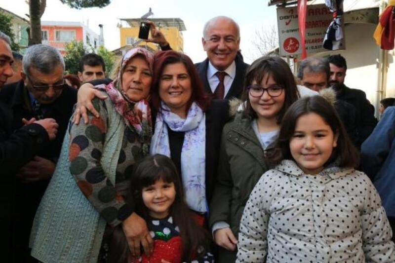 Başkan Çerçioğlu'dan Bağarası esnafına ziyaret