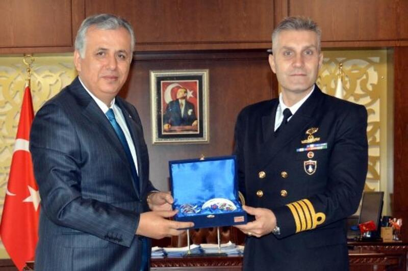 Albay Gülcan, Kaymakam Cinbir'i ziyaret etti