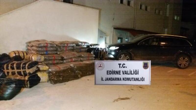 Edirne'de 1,3 ton 'skunk', 2,4 ton kaçak benzin ele geçirildi
