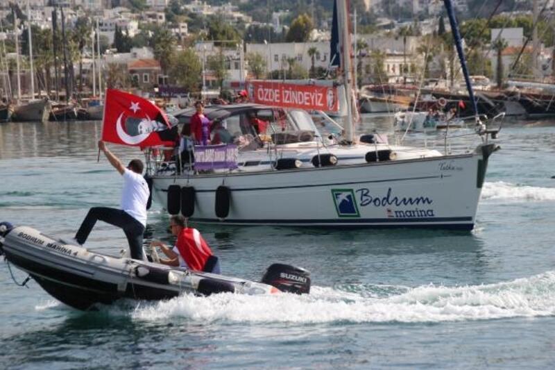 Kadın yelkencilerden Bodrum'dan Samsun'a 'Barış Seyri'