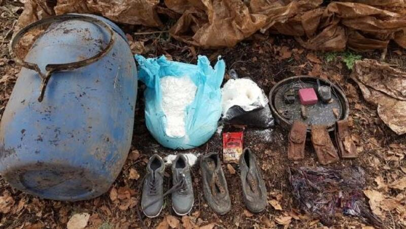 Amanoslarda PKK patlayıcısı ve malzemeler bulundu