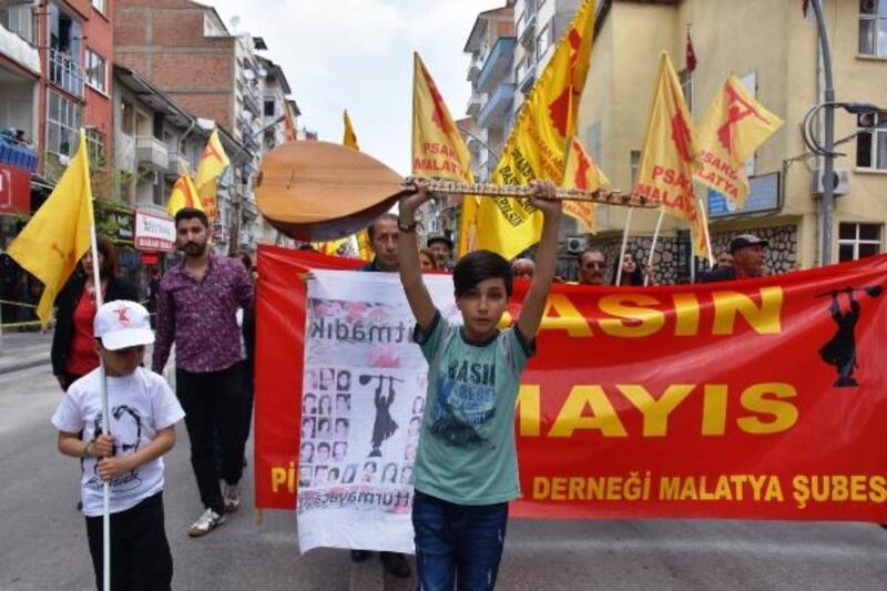 Malatya'da, 1 Mayıs kutlandı