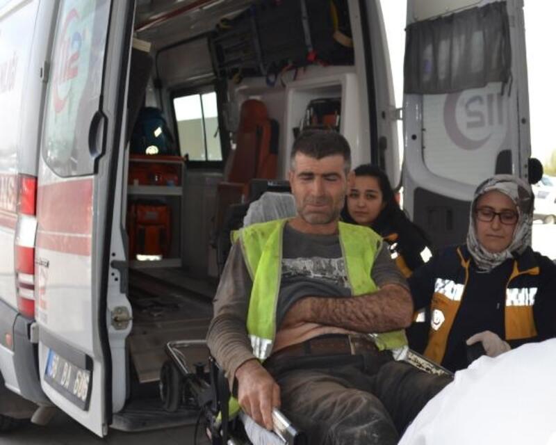 İnşaat işçisi, 1 Mayıs'taki iş kazasında yaralandı