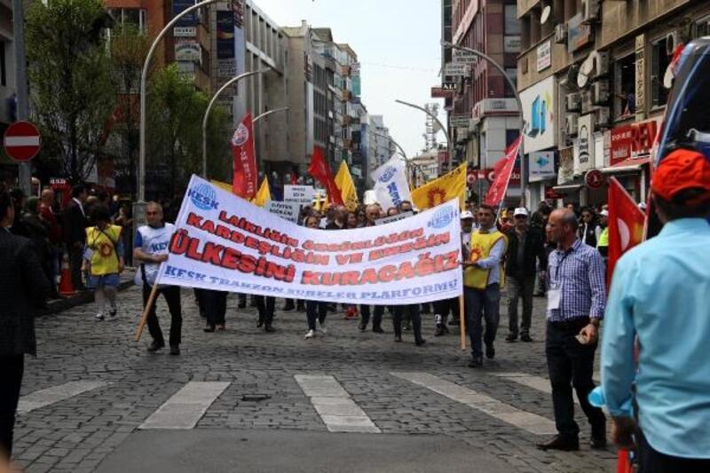 Trabzon'da, 1 Mayıs coşkusu