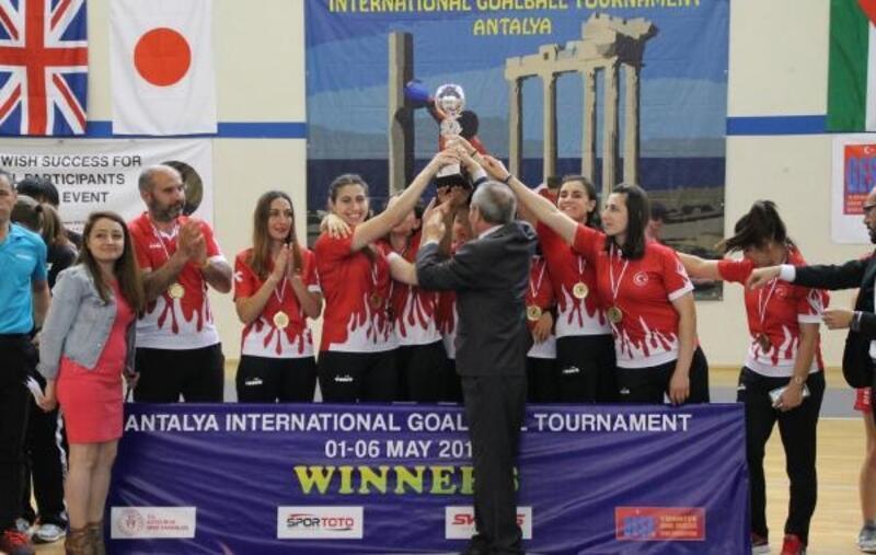 Uluslararası Goalball Turnuvası'nda Türkiye şampiyon oldu