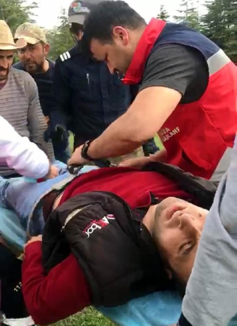 Mantardan zehirlenen gencin yardımına ambulans helikopter yetişti