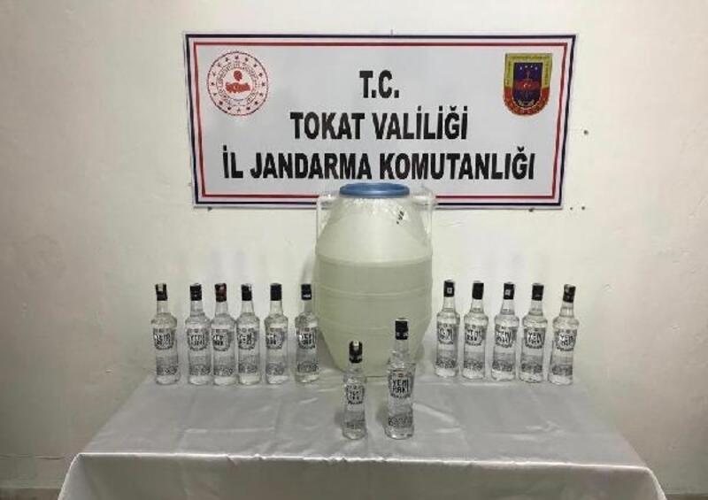 Tokat'ta jandarmadan sahte içki operasyonu