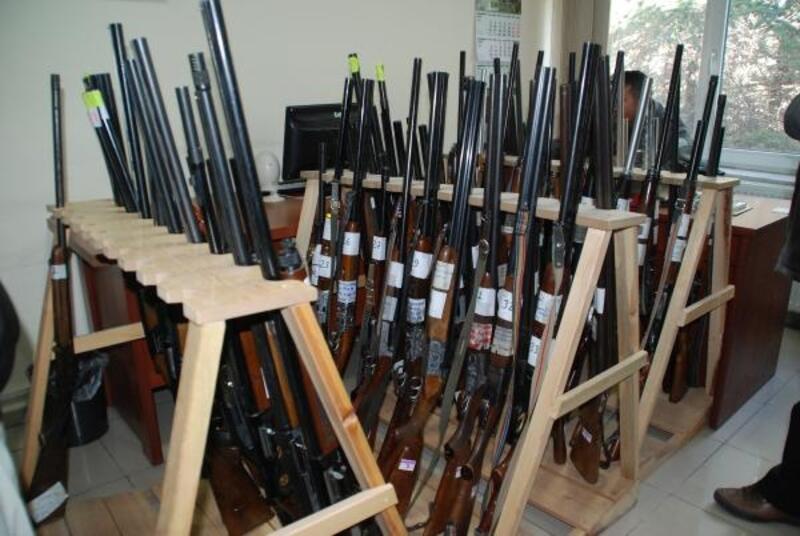 Kaçak avda ele geçirilen 39 tüfek ihaleyle satışa çıkarılıyor