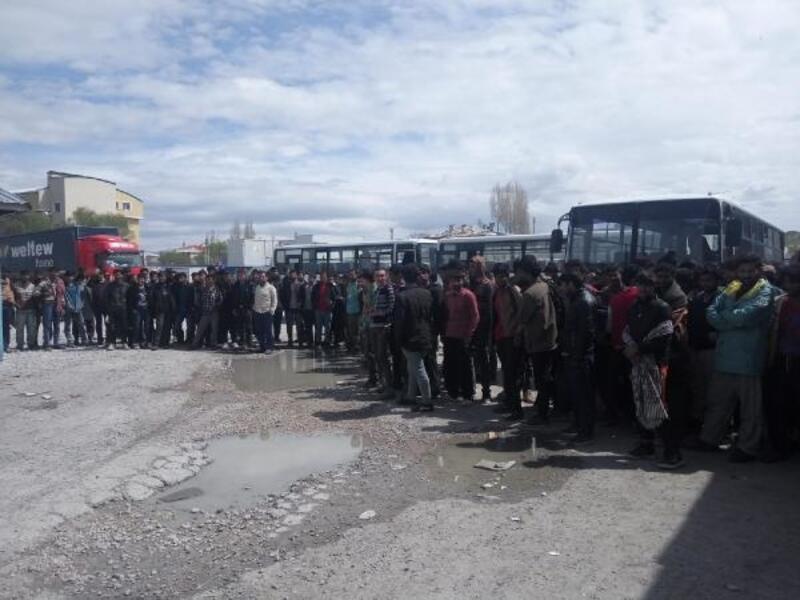 Van'da TIR'da 213 kaçak göçmen yakalandı
