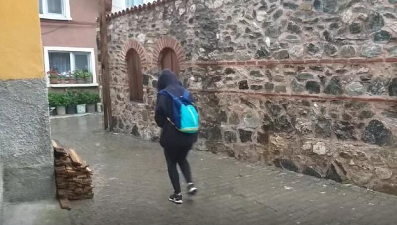 Mudanya'da sağanak yağış etkili oldu