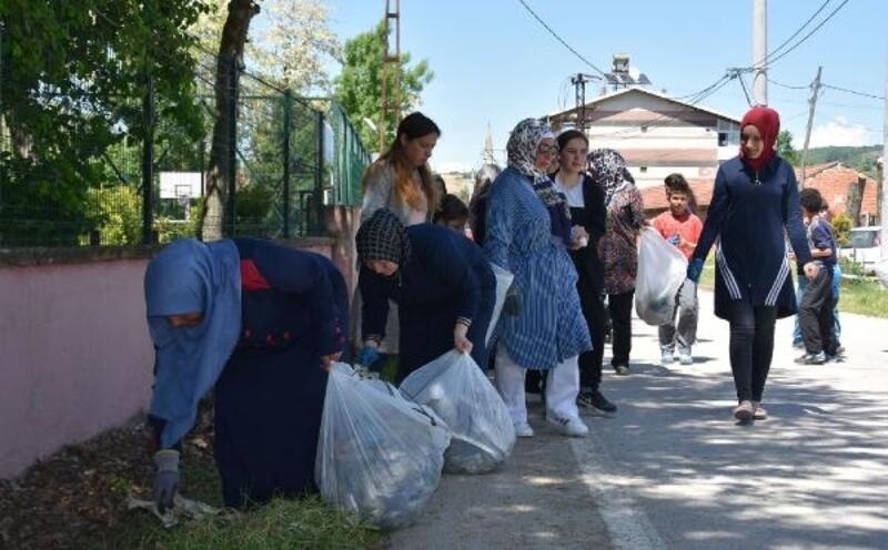 Bursalı kadın muhtar ve mahalleliden örnek proje