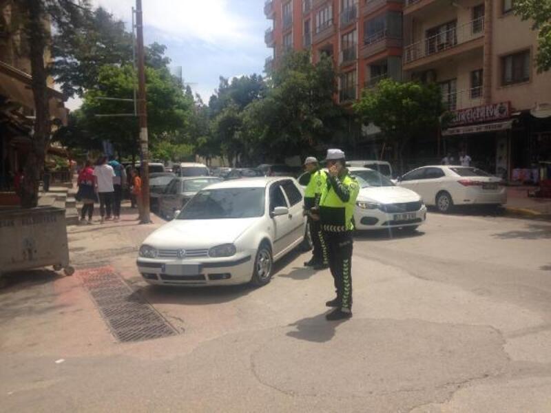 Keşan'da polisten trafik denetimi