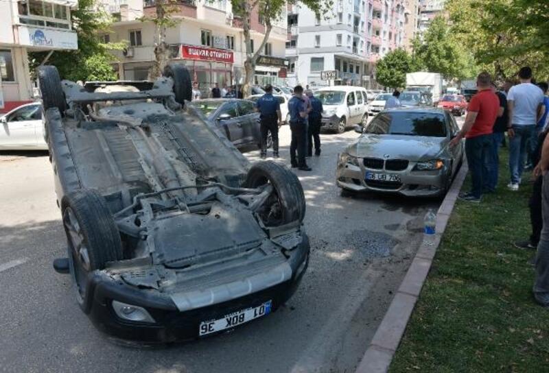 Lüks otomobili teste çıkaran tamirci kaza yapıp şoka girdi