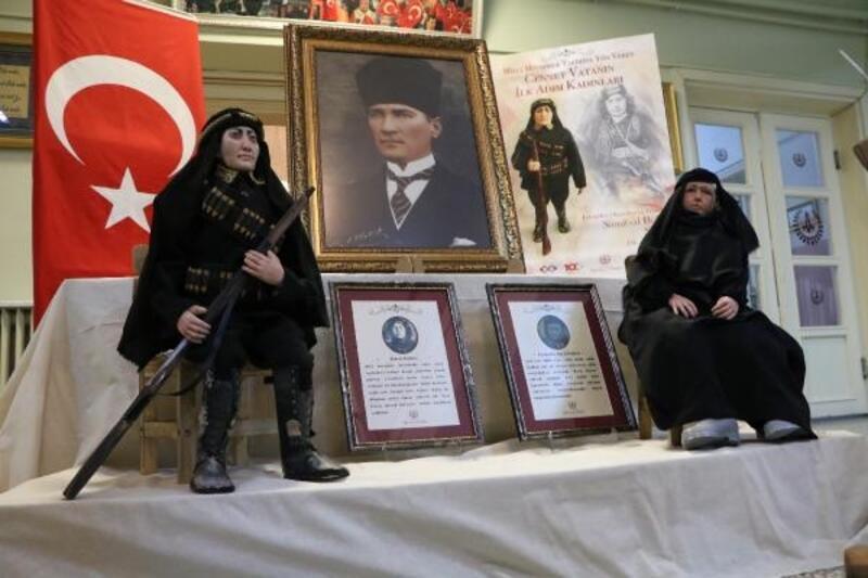 Kurtuluş Savaşı kadınlarının heykelleri yapıldı