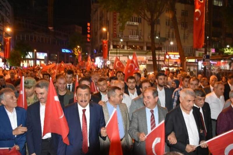 Malatya'da, 'Fener Alayı' yürüyüşü