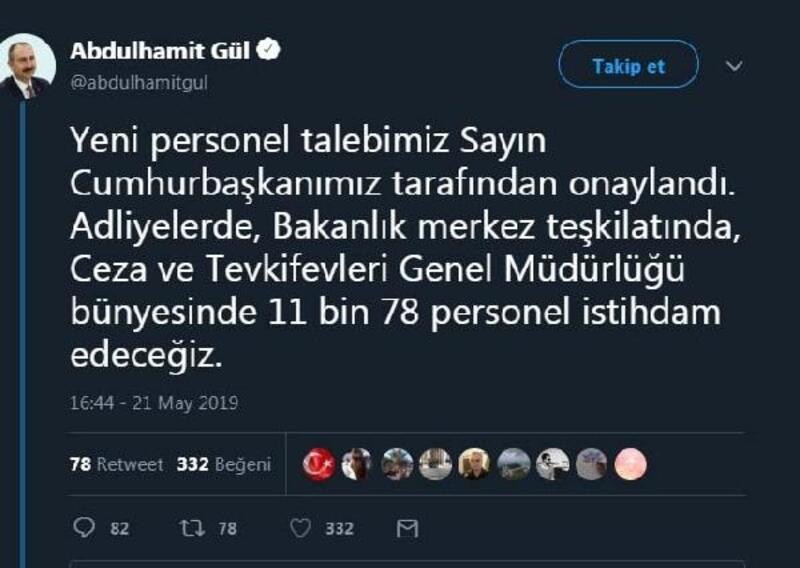 Bakan Gül açıkladı: 11 bin personel alınacak