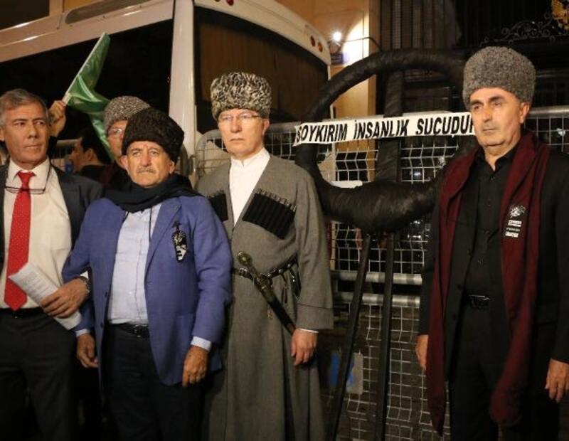 Çerkez Sürgünü ve Soykırımının 155'inci yılı Beyoğlu'nda anıldı