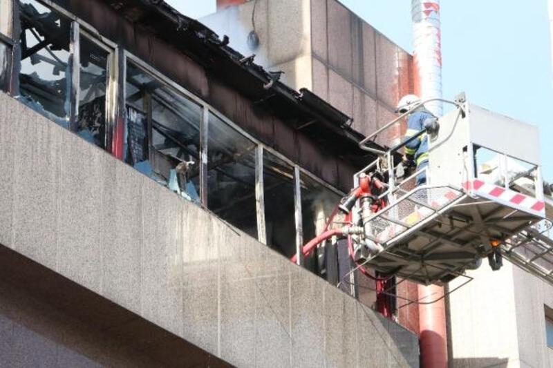 Eskişehir'de otelde yangın