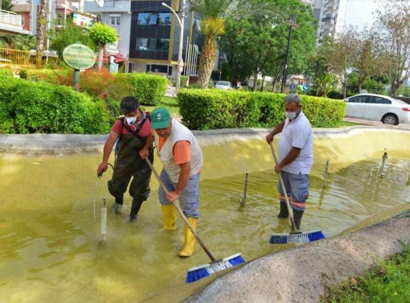 Süs havuzlarında temizlik zamanı