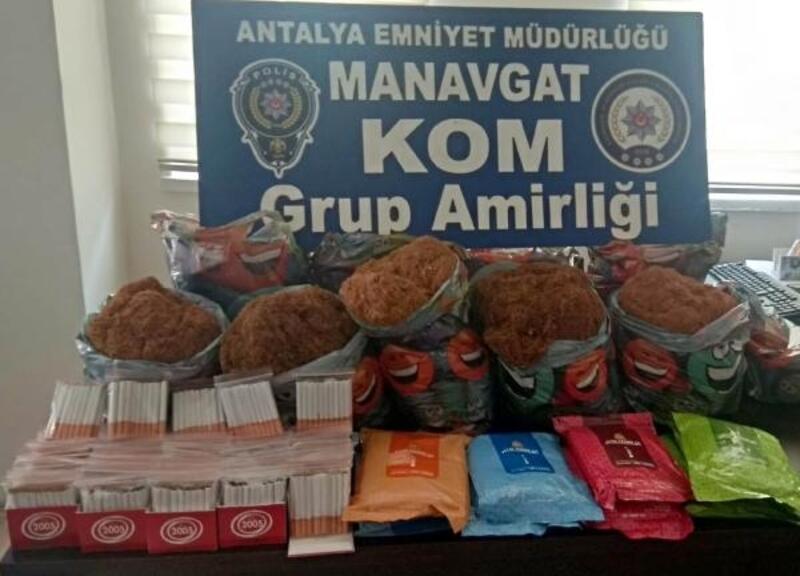 Manavgat'ta kaçak tütün operasyonu