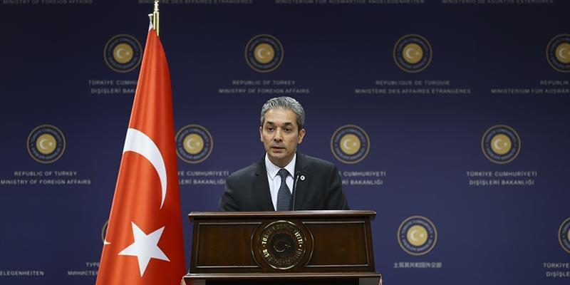 Dışişleri Bakanlığı Sözcüsü Hami Aksoy'dan ABD'nin açıklamasına tepki